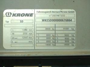 Шторные Krone 2015г. в. 76864вин