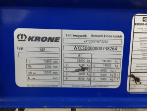 Шторные Krone 2016г. в. 38264вин