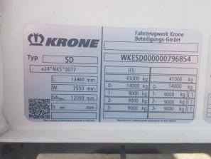 Шторные Krone 2017г. в. 96854вин