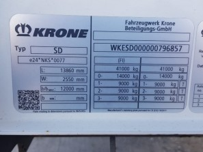 Шторные Krone 2017г. в. 96857вин