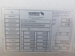 Шторные Schmitz 2017г. в. 89000вин