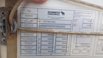 Шторные Schmitz 2017г. в. 83245вин