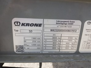 Шторные Krone 2018г. в. 07972вин